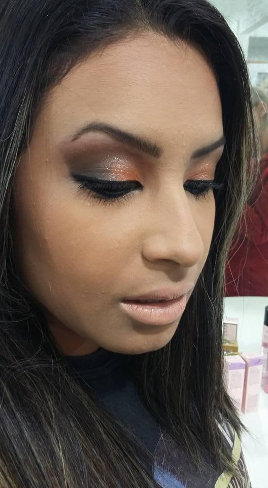 esfumado marrom, simples, noite maquiagem  maquiador(a) cabeleireiro(a)