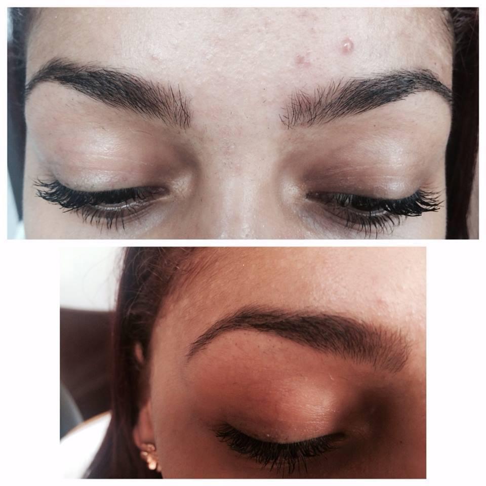 Meu Trabalho Sobrancelha da minha cliente após a retirada dos pelos com designer e aplicação de henna  designer de sobrancelhas