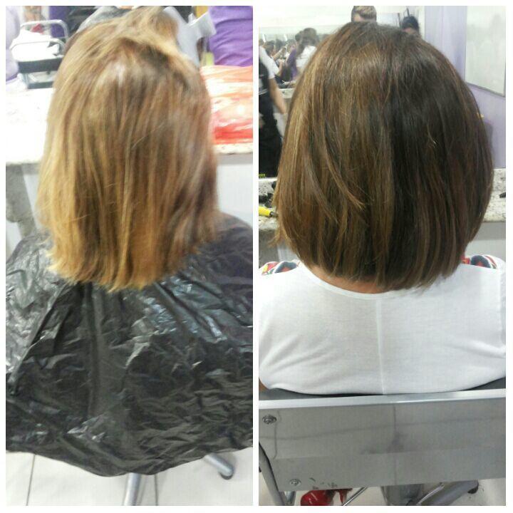 Tintura Retoque de raiz, corte e escova auxiliar cabeleireiro(a)