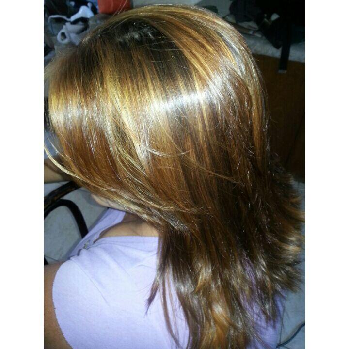 Luzes Depois +/corte auxiliar cabeleireiro(a)