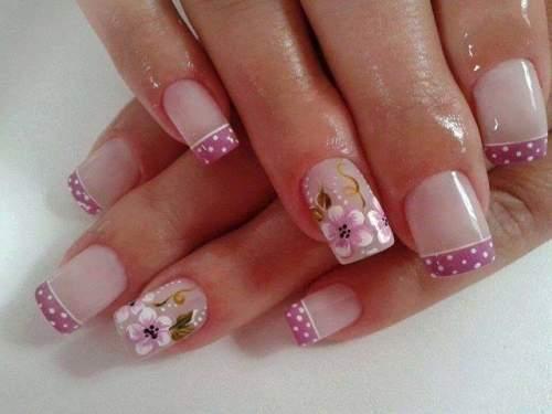 branco, roxo, flor unhas  manicure e pedicure depilador(a) designer de sobrancelhas escovista