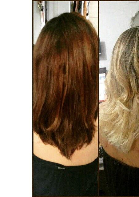 Balayagem Mechas feitas no papel cabeleireiro(a) auxiliar cabeleireiro(a) cabeleireiro(a)