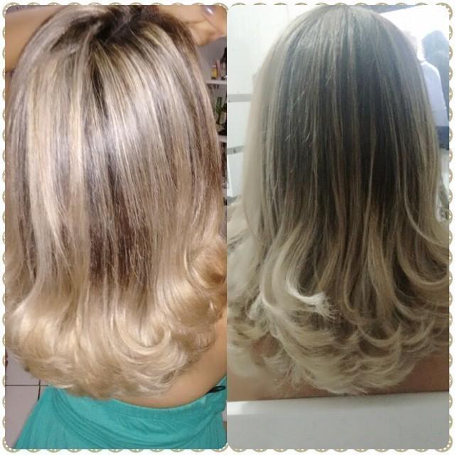 Corte e Mechas Corte médio, com leves camadas nas pontas e mechas feitas no papel. cabeleireiro(a) auxiliar cabeleireiro(a) cabeleireiro(a)