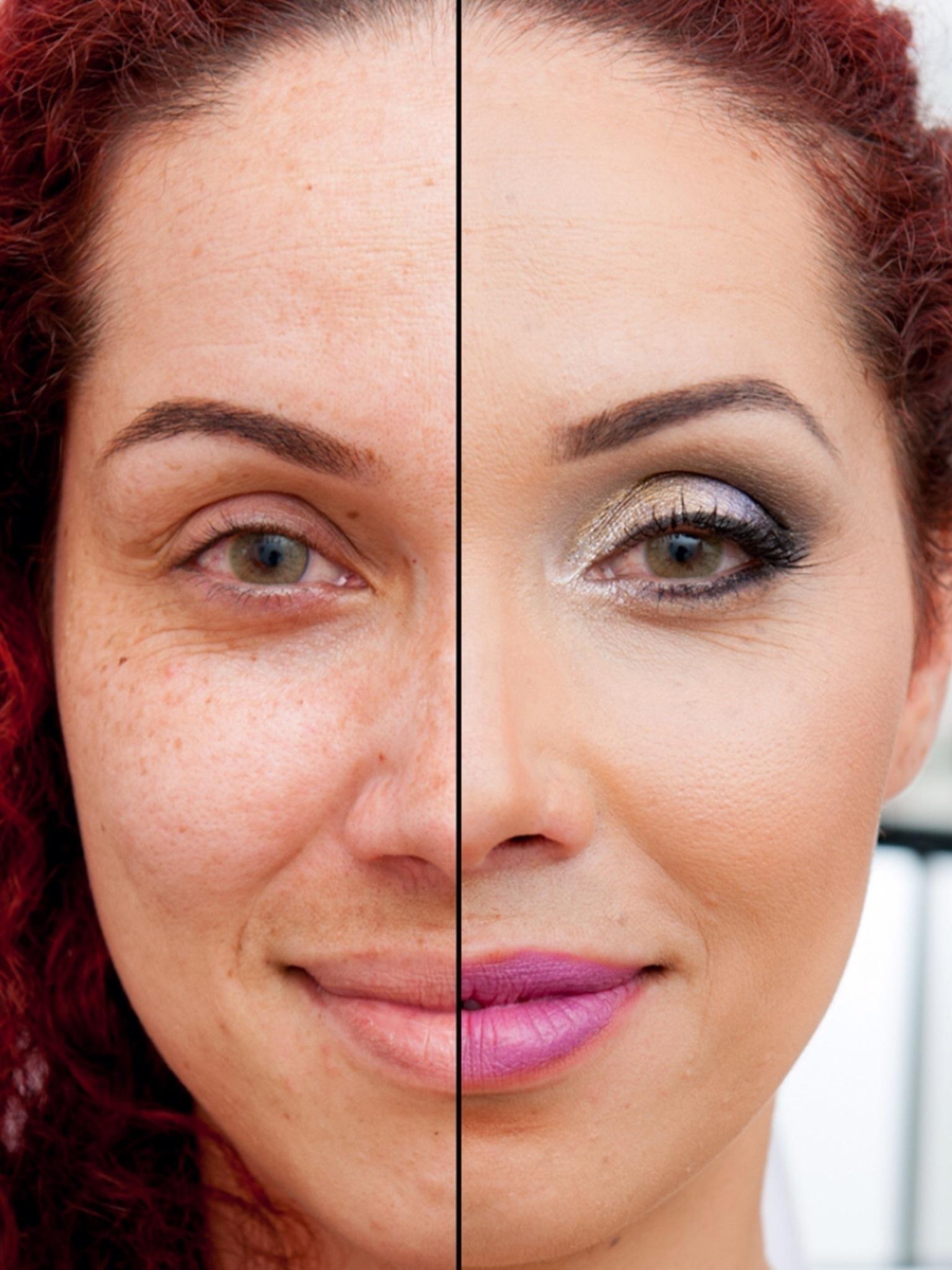 Antes e depois maquiagem hd  maquiador(a) designer de sobrancelhas