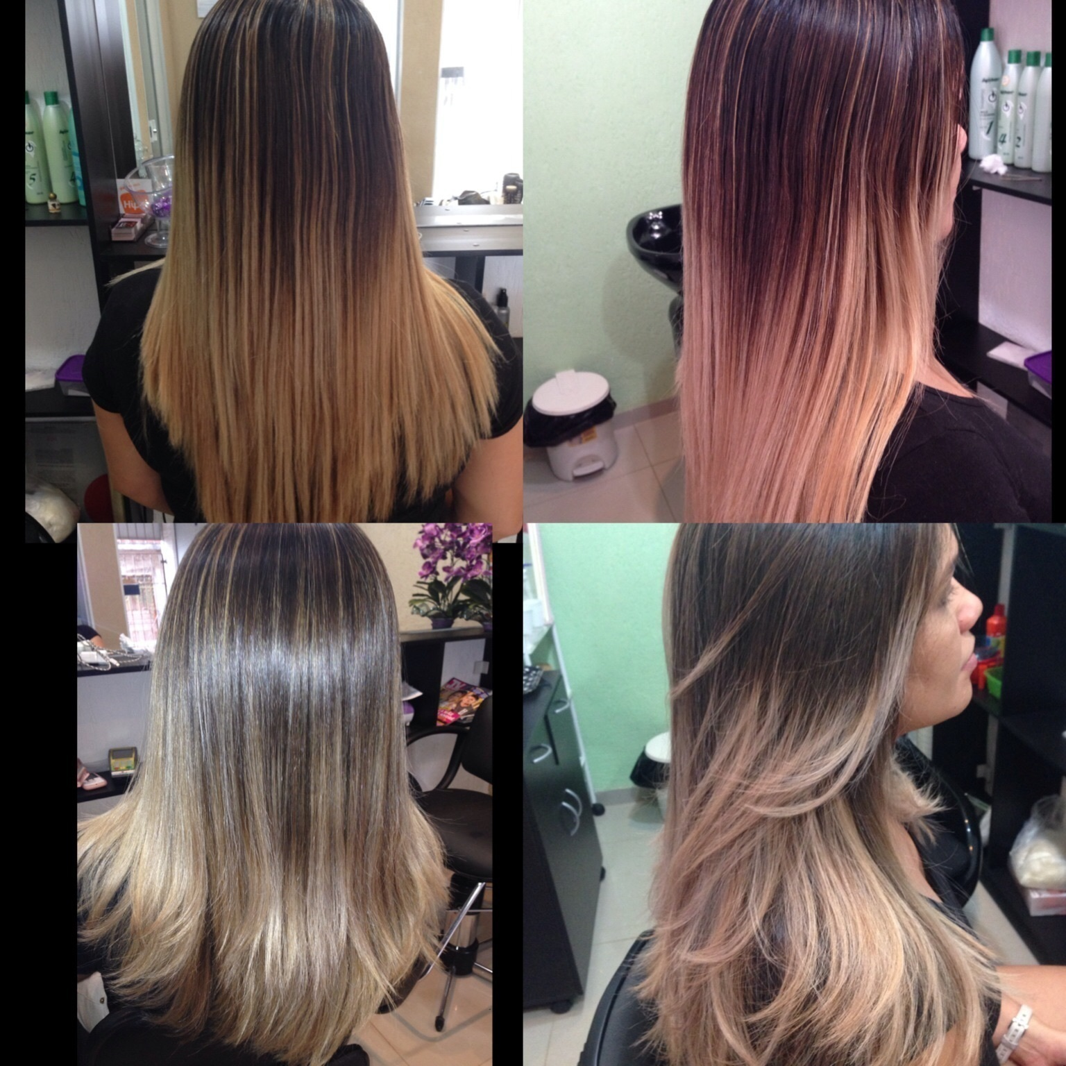 Corte + correção de cor  cabeleireiro(a) maquiador(a)