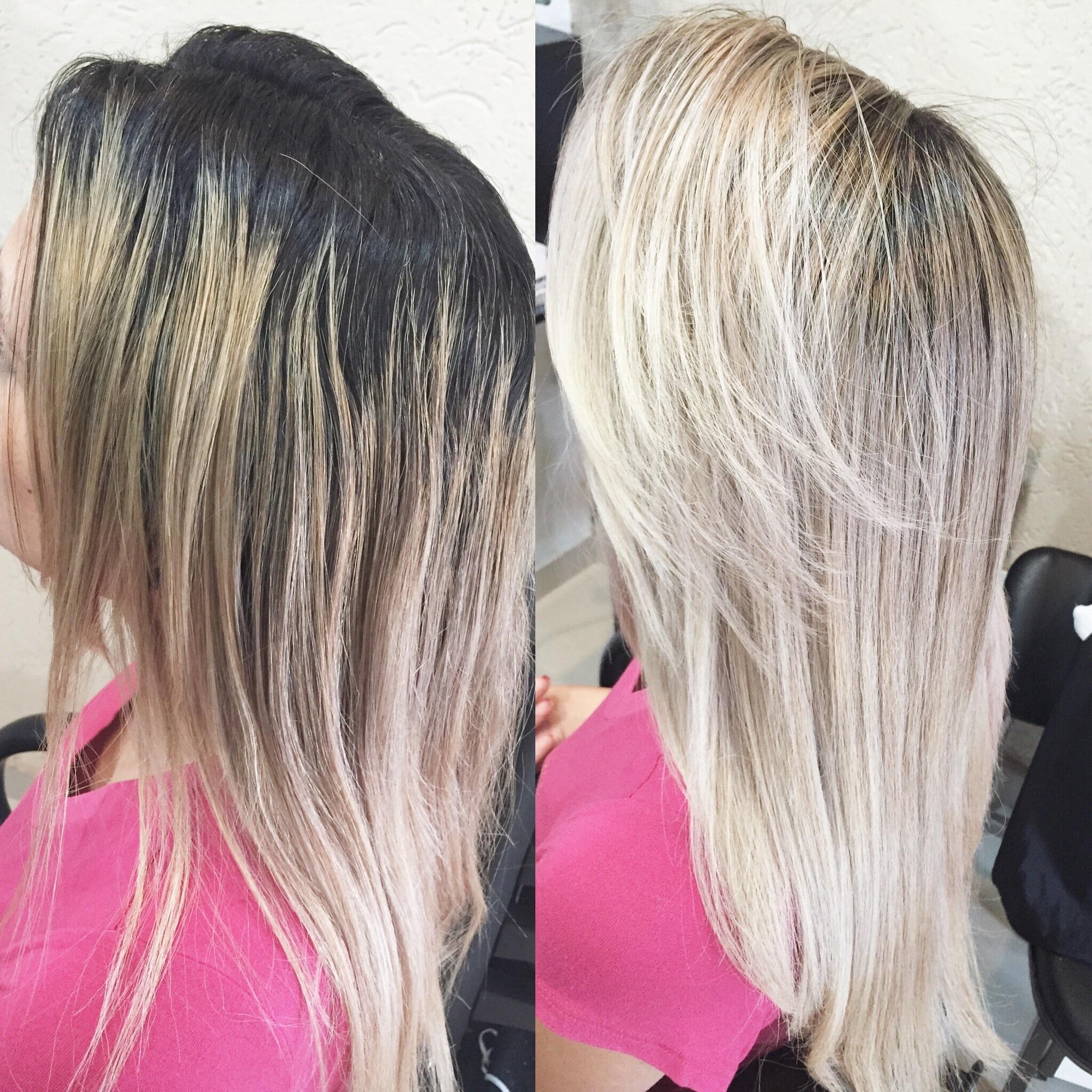 Luzes + correção de cor  cabeleireiro(a) maquiador(a)