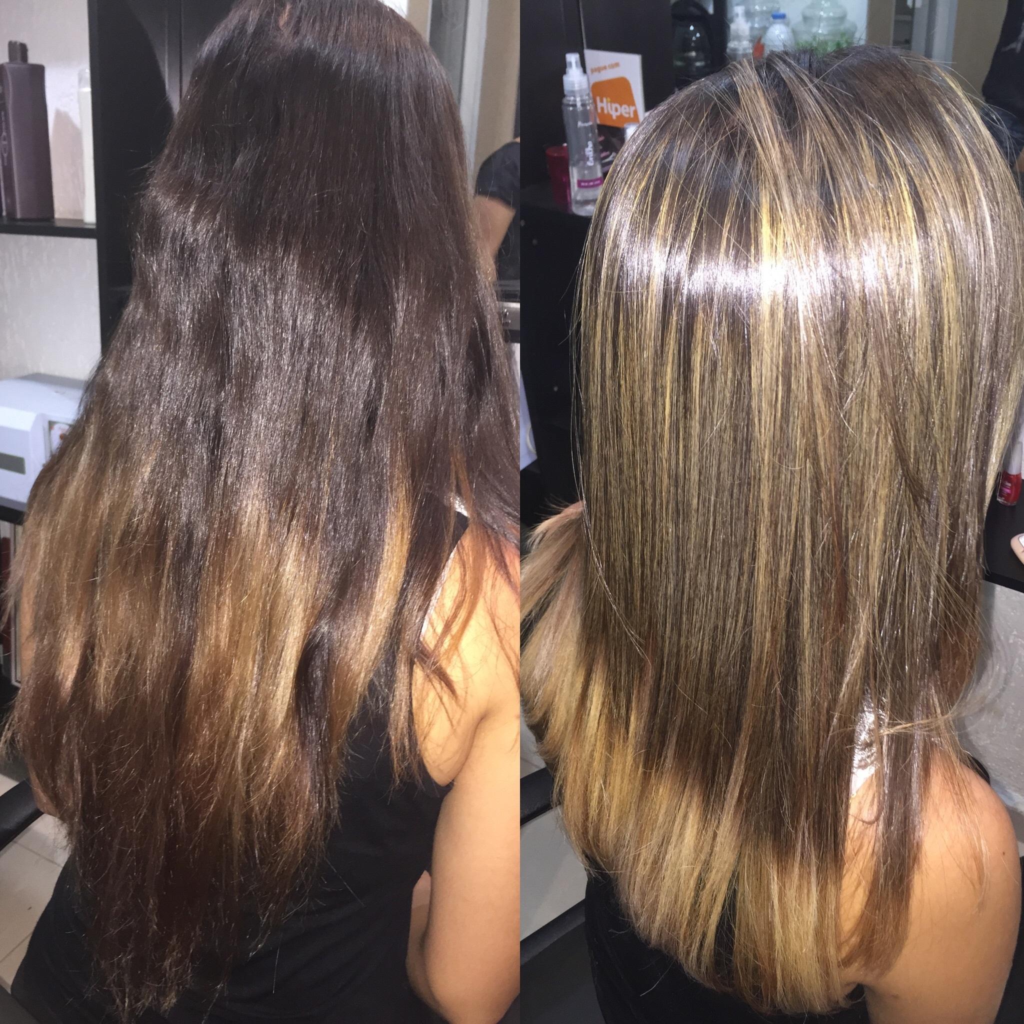 Luzes, corte e Califórnianas cabeleireiro(a) maquiador(a)