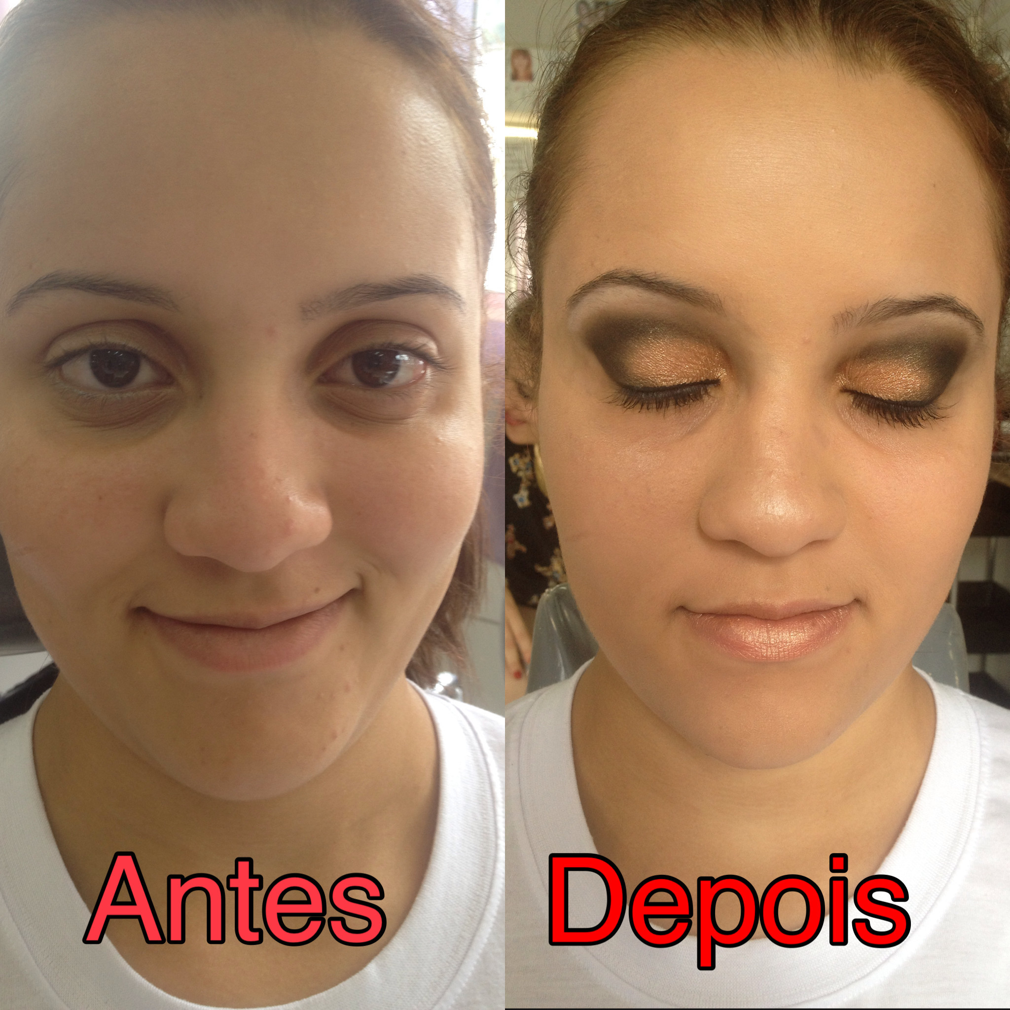 make up Maquiagem realizada durante o curso de maquiador profissonal no instituto embelleze. recepcionista esteticista maquiador(a) designer de sobrancelhas