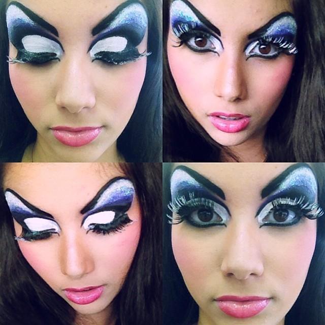 Automaquiagem Maquiagem realizada durante o curso de maquiador profissonal no instituto embelleze. Aula de maquiagem drag queen esteticista recepcionista designer de sobrancelhas maquiador(a)