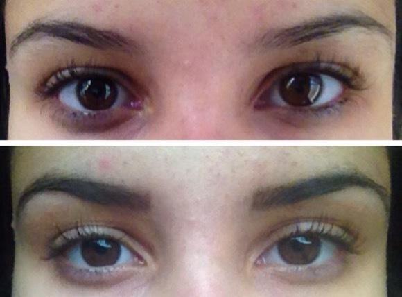 Henna + pinça Antes e depois. esteticista recepcionista designer de sobrancelhas maquiador(a)