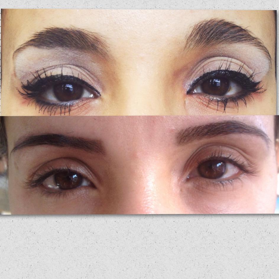 Henna + pinça Trabalho realizado durante o curso no instituto embelleze. Foto antes e depois. esteticista recepcionista designer de sobrancelhas maquiador(a)