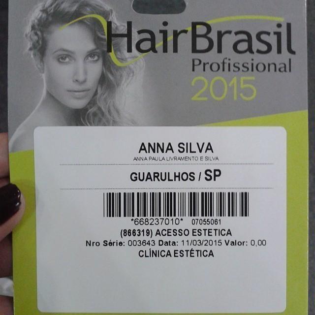 Hair Brasil Participação na Hair Brasil 2015. recepcionista esteticista maquiador(a) designer de sobrancelhas
