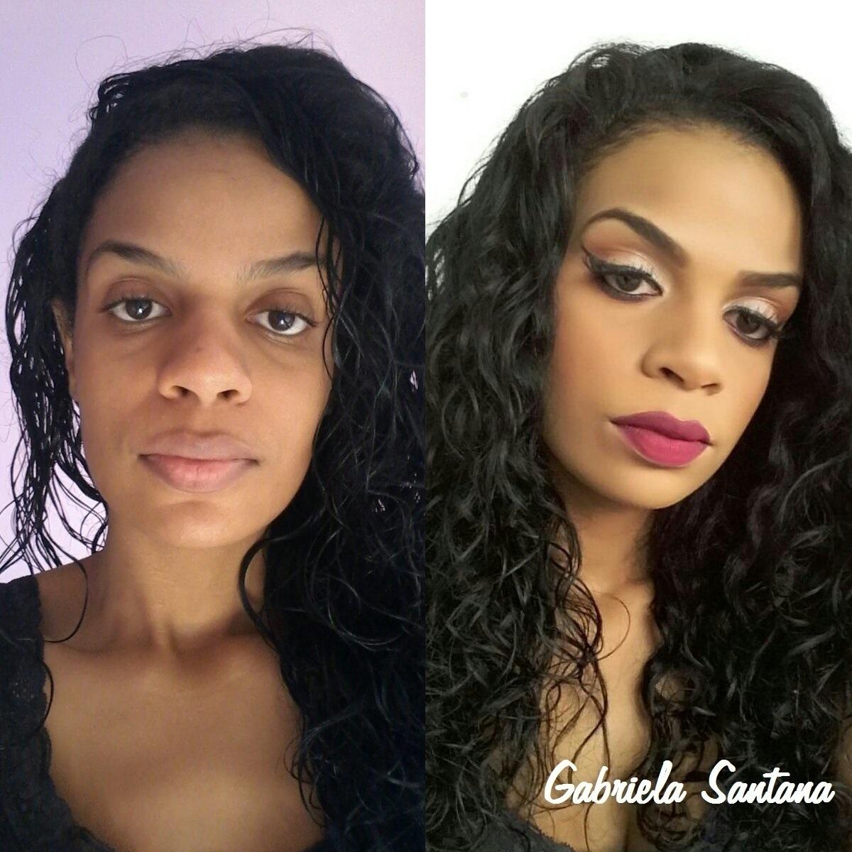 Maquiagem contorno e iluminação - Pele negra Nessa maquiagem foi utilizada a técnica de contorno e iluminação. Correção das sobrancelhas e uniformização da pele.Nos lábios batom vinho e nos olhos delineado gatinho, marcação de concavo e iluminado no centro dos olhos. pele negra, delineado maquiagem  maquiador(a)