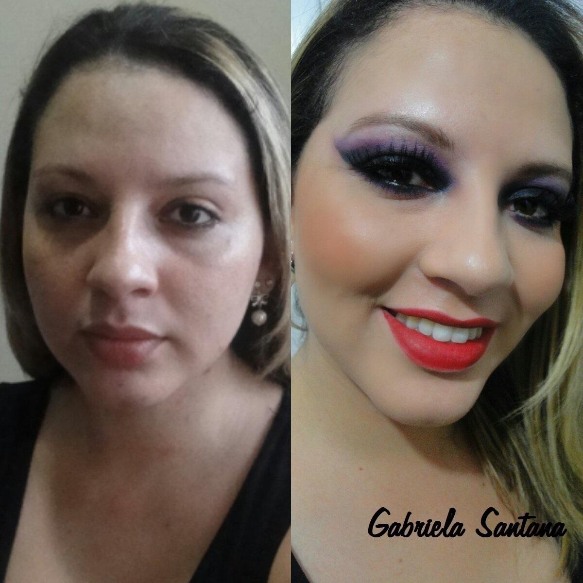 Maquigem Smokey Eyes Black com toque de cor maquiador(a)