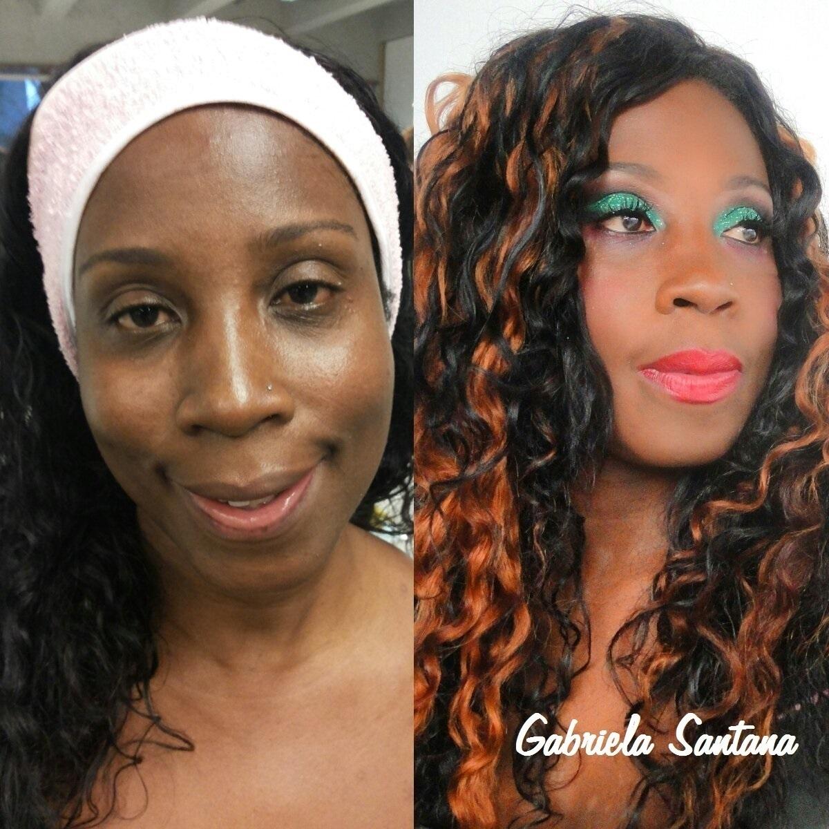 Maquiagem colorida - Pele negra maquiador(a)