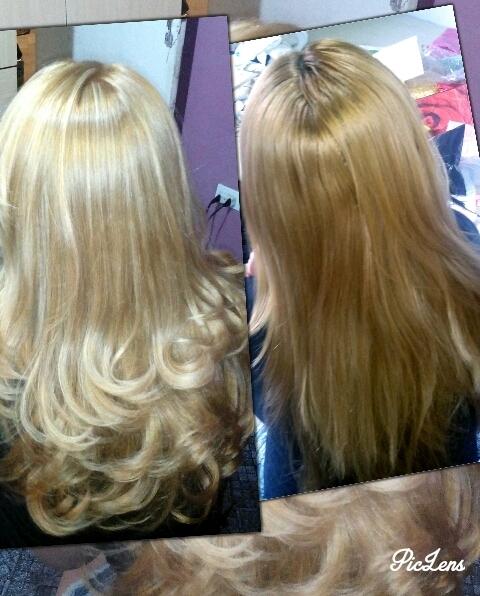 Antes e depois Retirei o tom alaranjado, e fiz uns reflexos platinado pra da uma clareada no rosto da cliente escovista vendedor(a) auxiliar cabeleireiro(a)