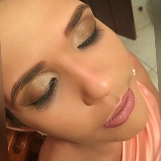 esfumado marrom, simples, noite maquiagem  designer de sobrancelhas maquiador(a) esteticista estudante