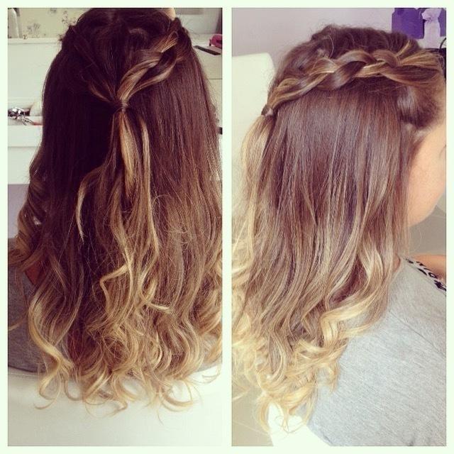 penteado com tranca penteado semi preso, trança, mechas, ombré hair cabelo  auxiliar cabeleireiro(a) assistente maquiador(a)