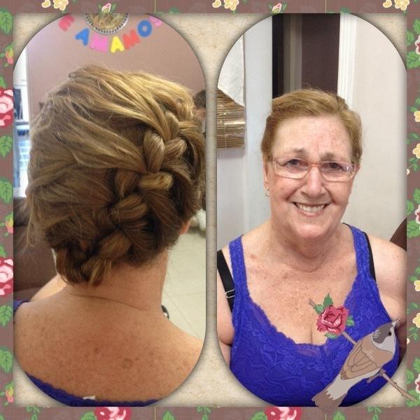 penteado com tranca auxiliar cabeleireiro(a) assistente maquiador(a)