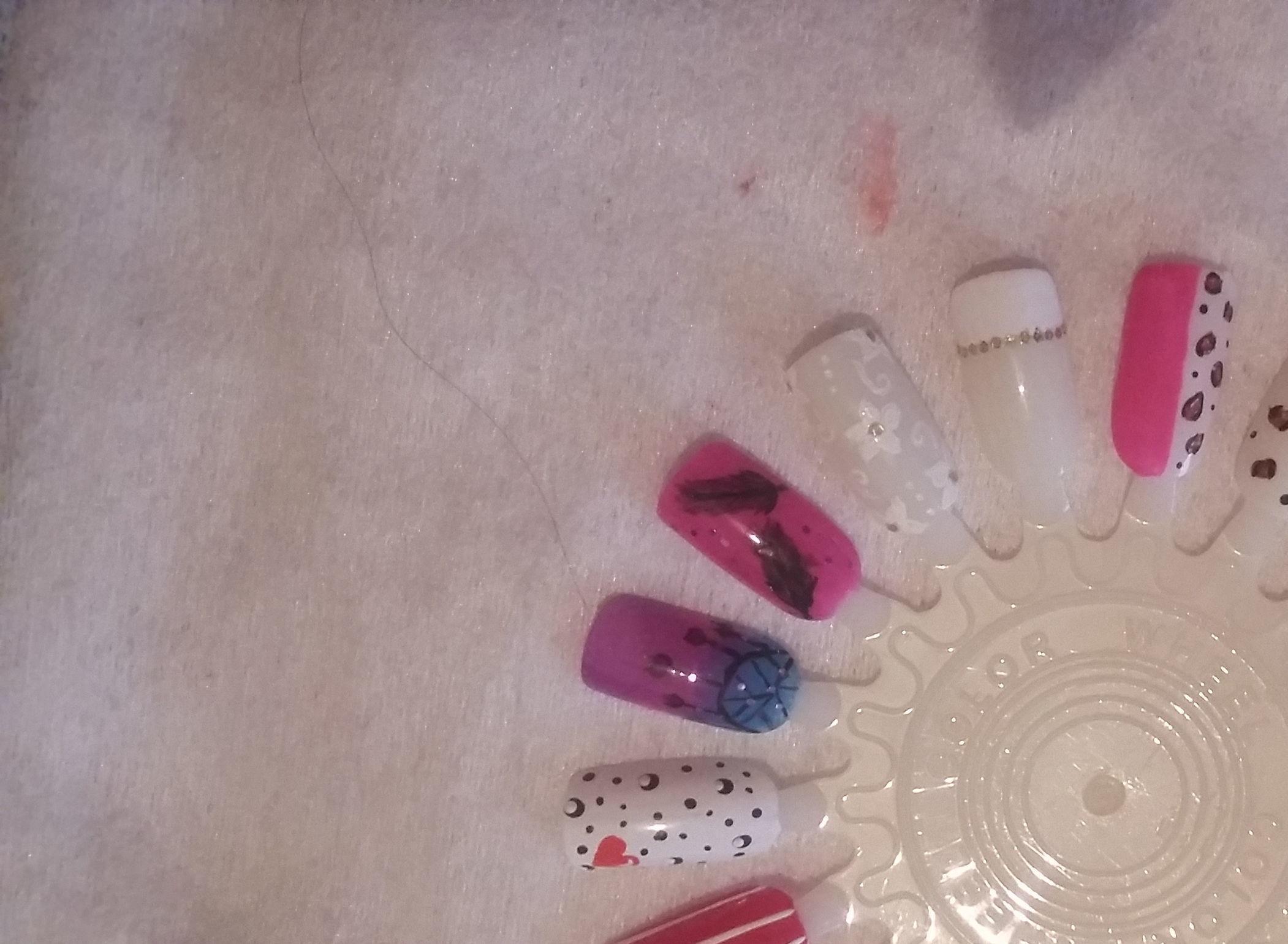 Decorações que eu faço  manicure e pedicure