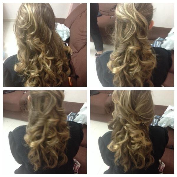 penteado penteado, semi preso, cachos, cacheado, casamento, festa, formatura, debutante cabelo  auxiliar cabeleireiro(a) assistente maquiador(a)