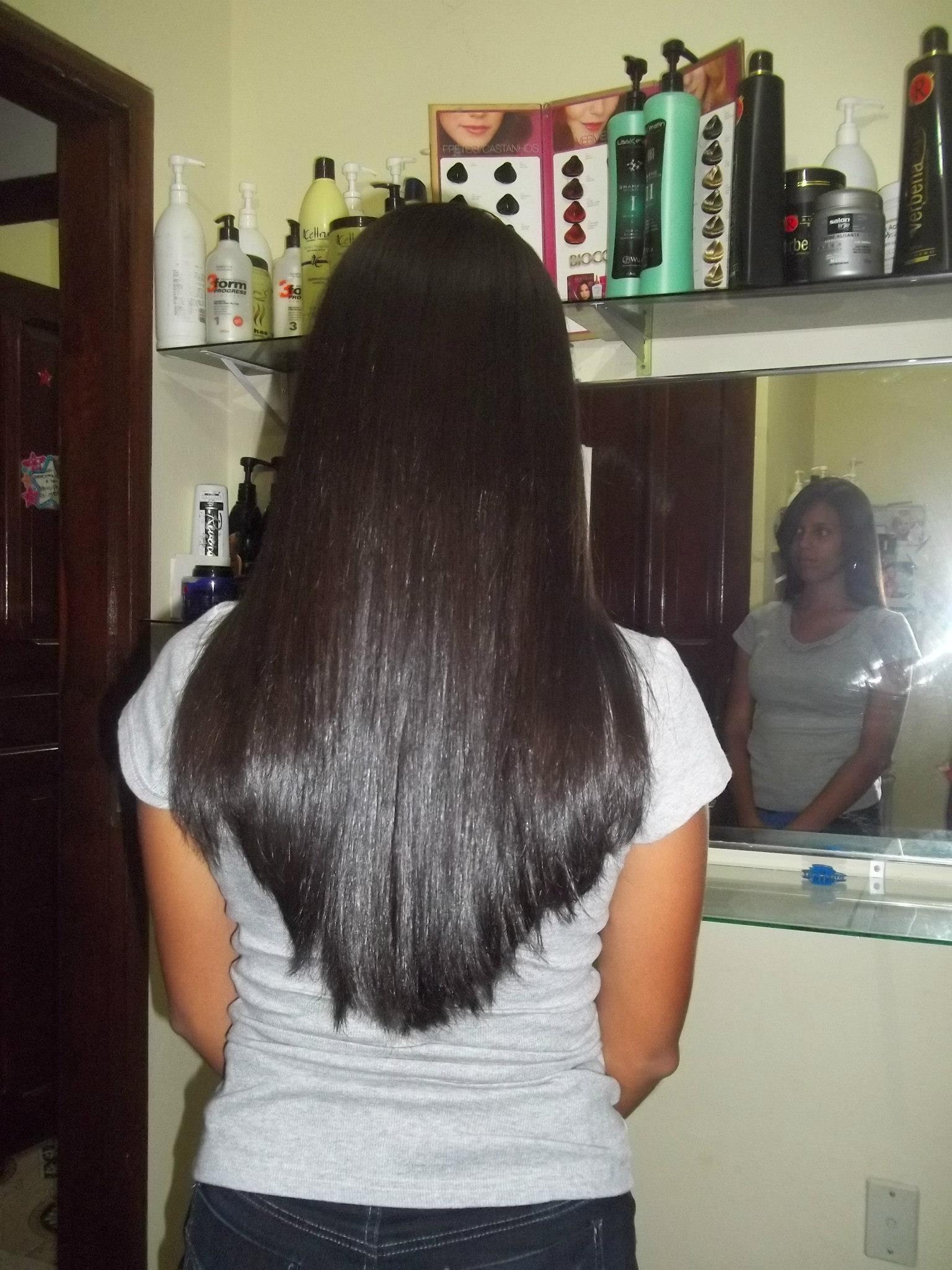 depois da progressiva  cabeleireiro(a) cabeleireiro(a)