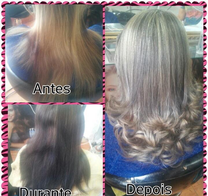 melhora da cor  Foi feito um leve escurecimento e logo após o clareamento correto.  maquiador(a) cabeleireiro(a) estudante