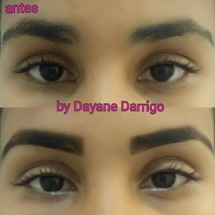 Designer sobrancelha Trabalho realizado com aplicação de hena, para cobrir imperfeições.  depilador(a) designer de sobrancelhas esteticista