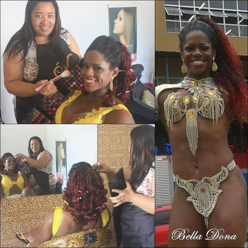 carnaval Passista na produção de Make e Penteado maquiador(a) outros