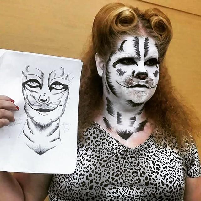 Maquiagem Artística criação inspirada em felinos! visagista cabeleireiro(a) consultor(a) em imagem stylist