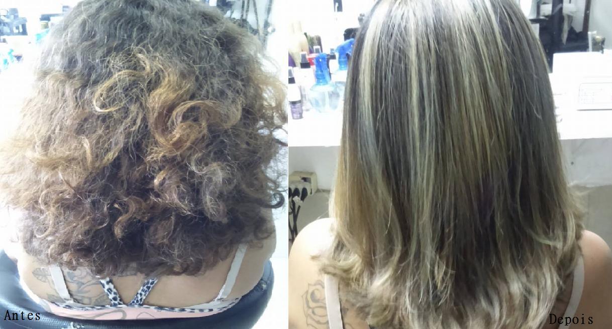 Correção de cor Luzes, nutrição dos fios e corte cabeleireiro(a)