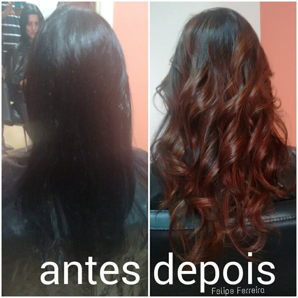 Remoção de Preto Antes cabelo tingido de preto 1.0, depois cabelo com sombrè marrom quente. cabeleireiro(a) maquiador(a) stylist visagista terapeuta vendedor(a)