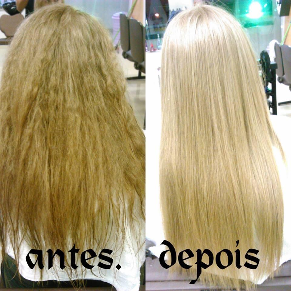 Botox Capilar Matizador Antes cabelo seco, armado e sem vida. Depois cabelo com volume reduzido, sedoso, brilho e maciez. cabeleireiro(a) maquiador(a) stylist visagista terapeuta vendedor(a)