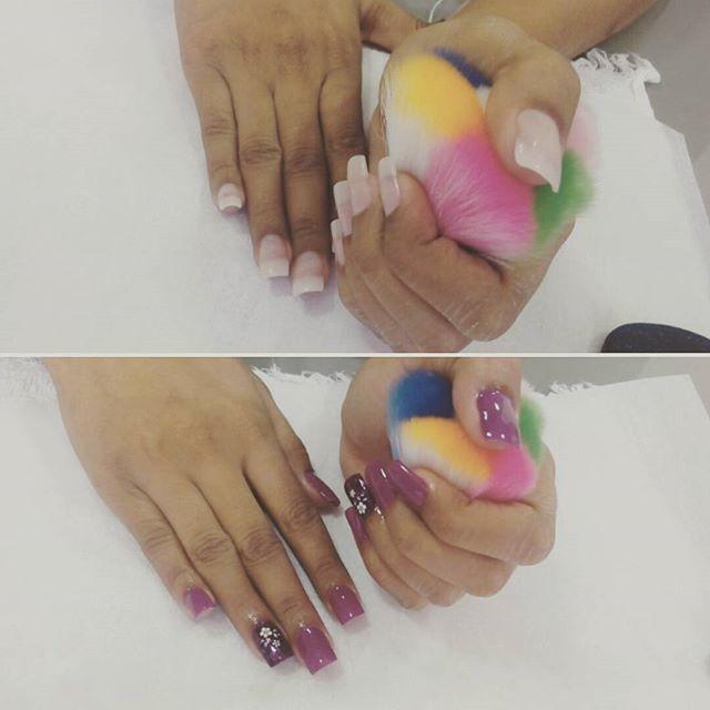 unhas de fibras manicure e pedicure