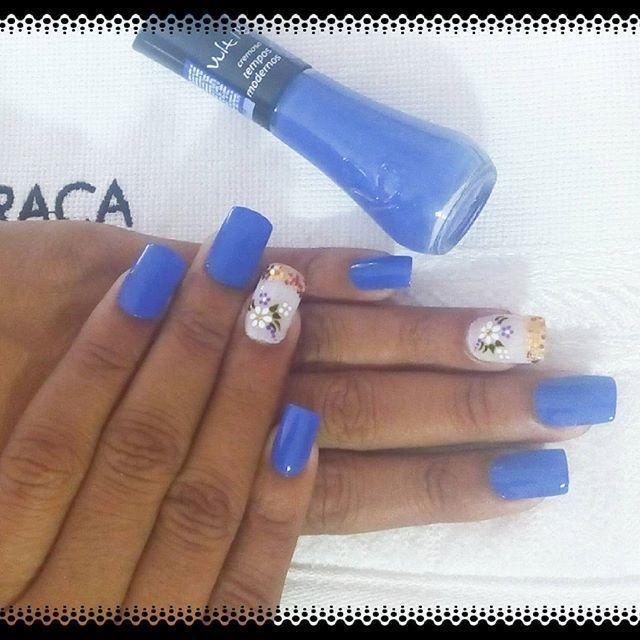 unhas de fibra cm decorada manicure e pedicure