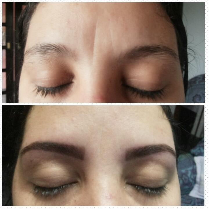 Designer com Aplicação de henna designer de sobrancelhas auxiliar administrativo