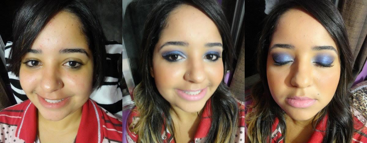 Antes e depois. maquiador(a)