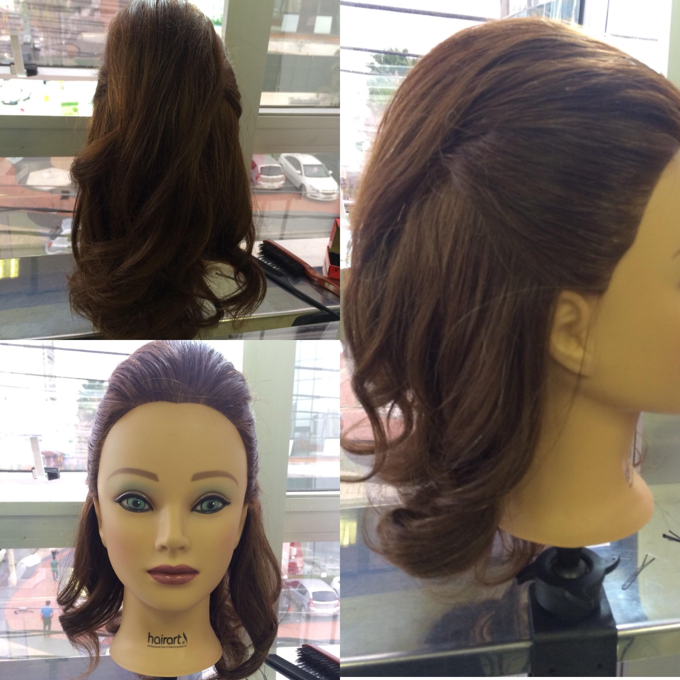 Penteado topete semi preso auxiliar cabeleireiro(a)