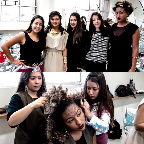 desfile penteados, Medusa e Atena  auxiliar cabeleireiro(a)