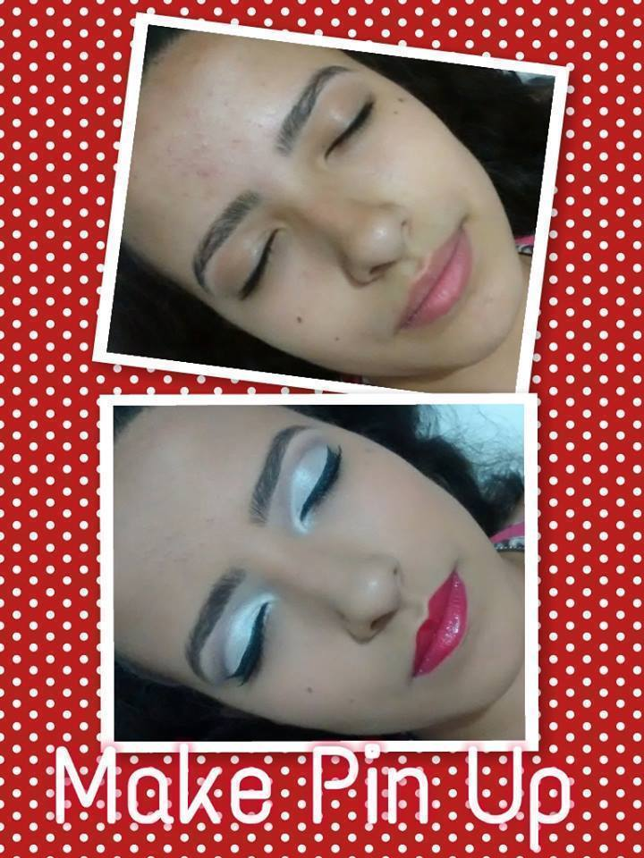 Maquiagem Clássica  Maquiagem Estilo Pin Up #maquiagem #pinup #antesedepois maquiador(a) designer de sobrancelhas