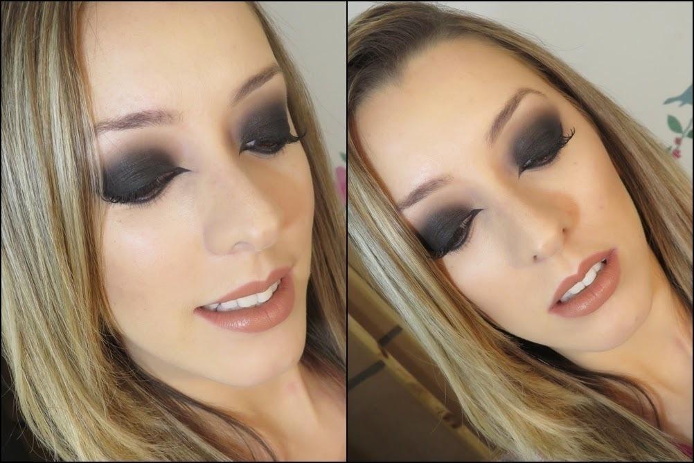 Maquiagem Olho Preto Maquiagem Olho Preto Esfumado com boca Nude!#maquiagem #makeup #olhopretoesfumado #thaisbarros preto, esfumado maquiagem  maquiador(a) designer de sobrancelhas