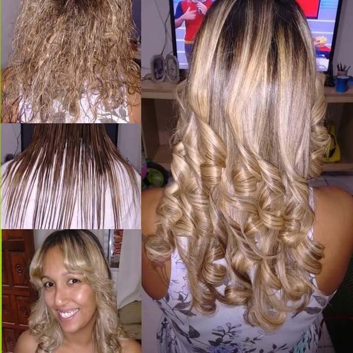 alguns dos meus trabalhos cabelo  auxiliar cabeleireiro(a)