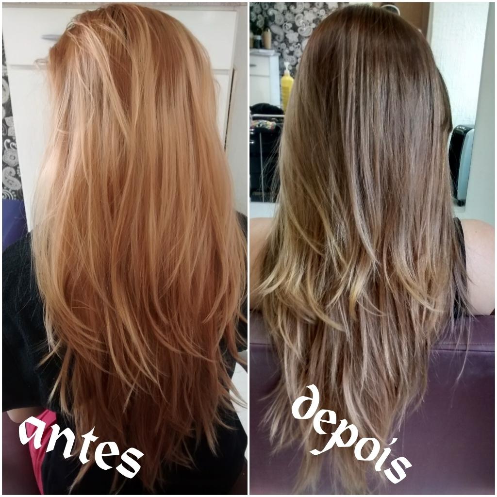 correção de colorac cabelo
