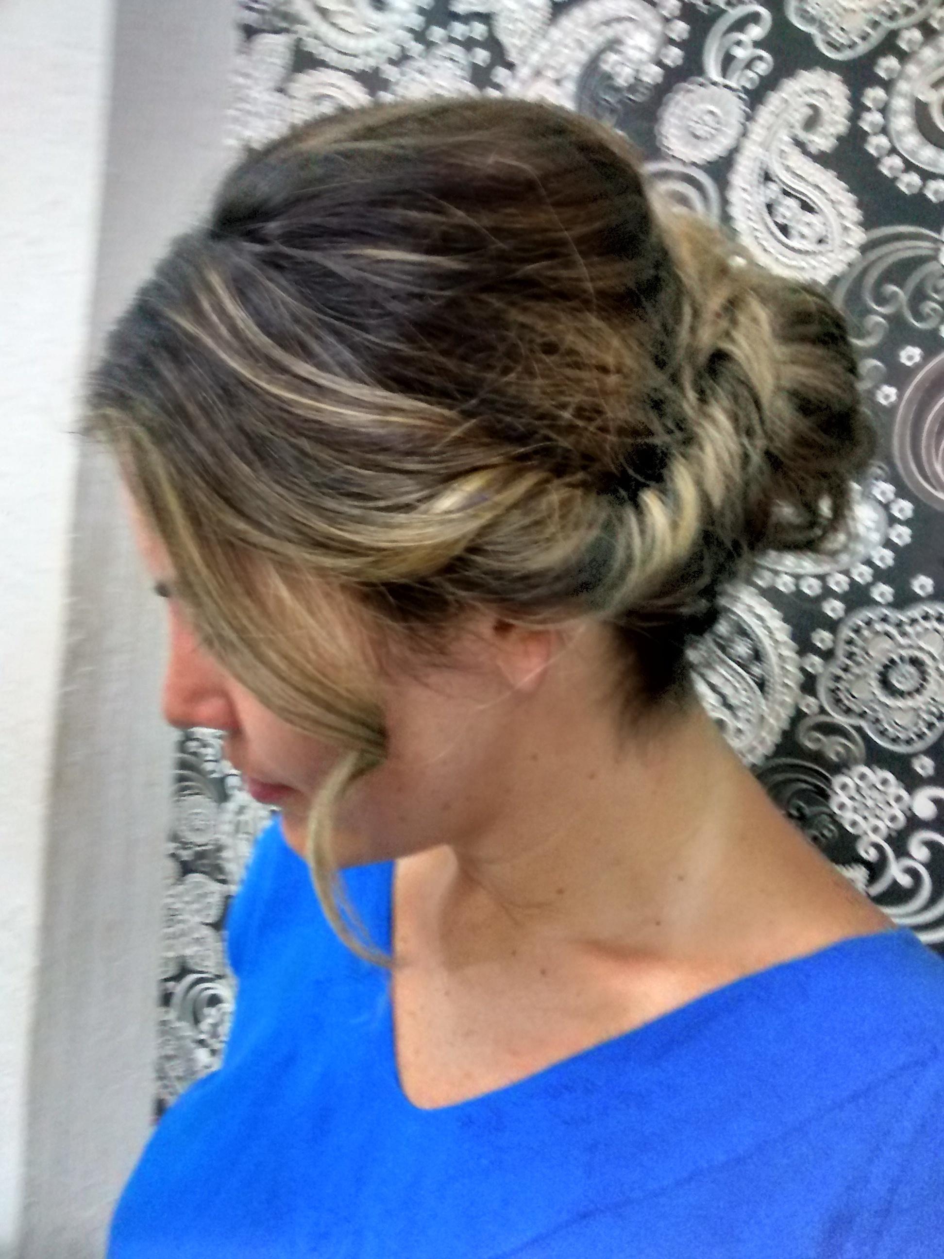 penteado semi preso, cabelo