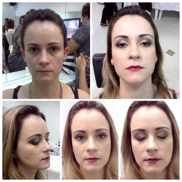Antes e depois maquiagem  maquiador(a) designer de sobrancelhas