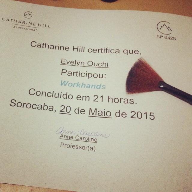 Certificado Catherine Hill maquiador(a) designer de sobrancelhas