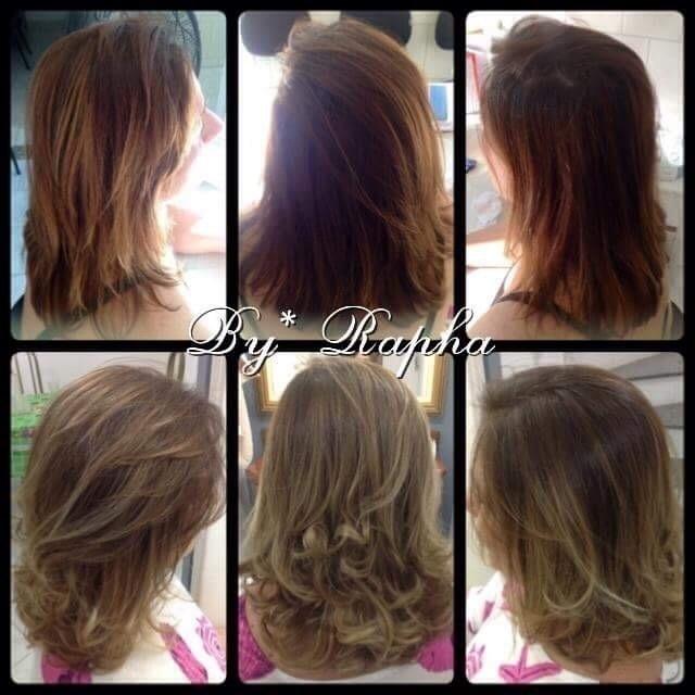 Correção de cor e Umbre Hair cabelo