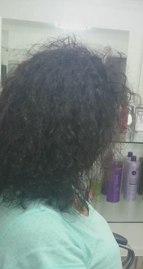 Escova progressiva zap ( antes)  Antes  auxiliar cabeleireiro(a)