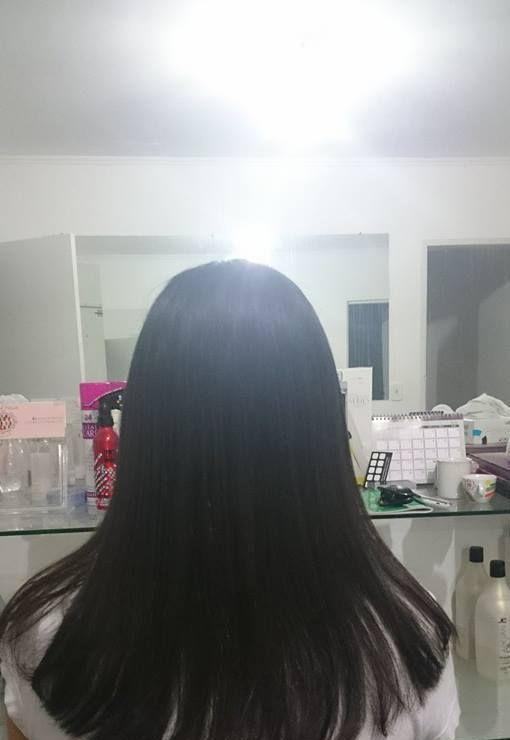 Escova progressiva depois  auxiliar cabeleireiro(a)