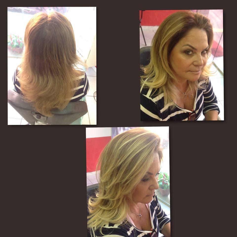 Blond Hair Antes e Depois  maquiador(a) designer de sobrancelhas cabeleireiro(a) stylist